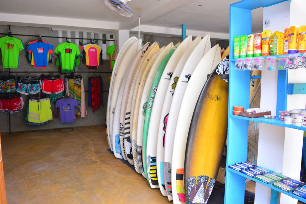 Surf accessories at baba's surf shop