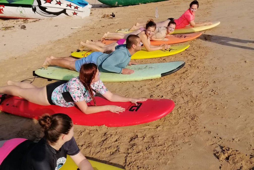 Surf lessons at Cheeky Monkey surf camp