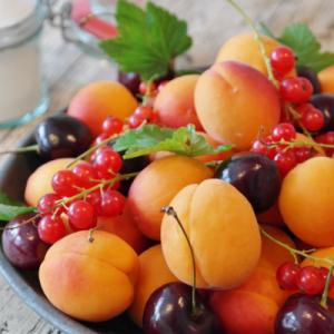 Bucket of fruits