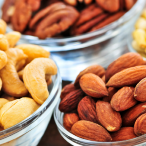 Plates of nuts